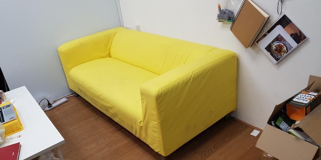 Ikea Klippan Sofa 180cm Extra White Cover Furniture Sofas On