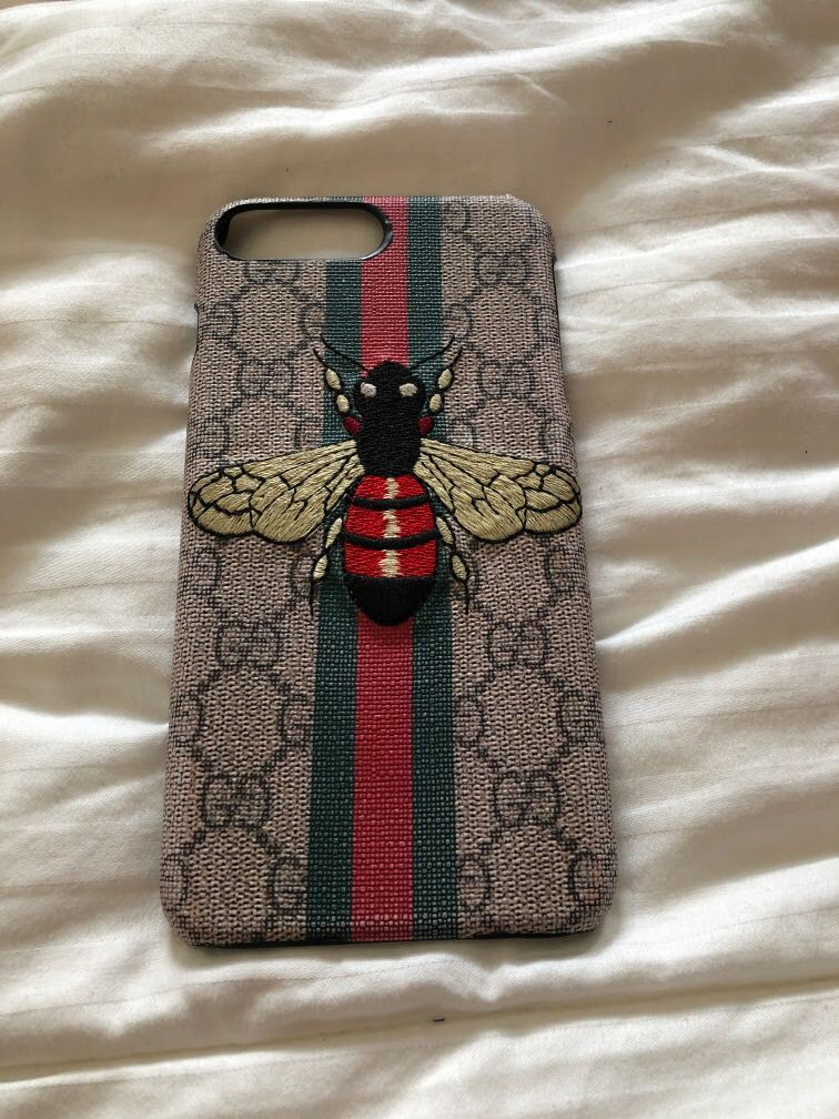 check out a2e31 cc59b Iphone 7 plus casing gucci bee