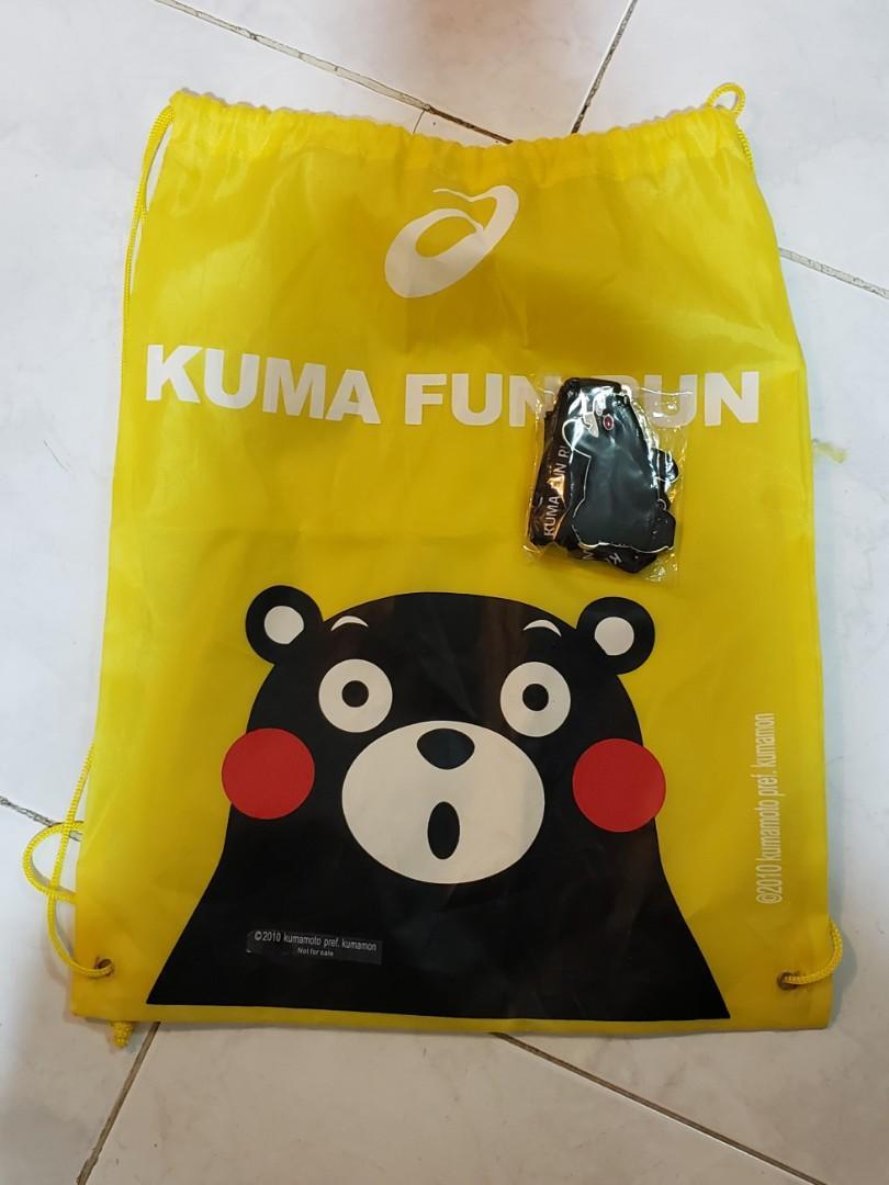 Kumamon 熊本熊 獎牌 2019 Asics Kuma fun run 送比賽袋(如圖)