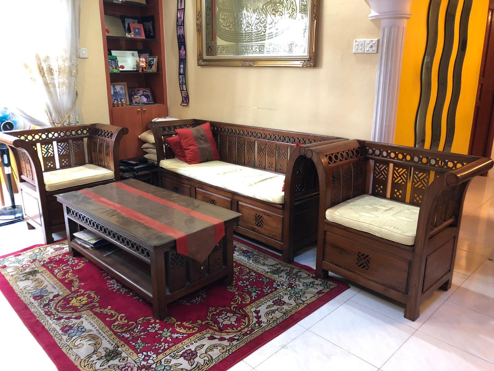 Living Room 3 2 Sofa Set Kayu Jati Furniture Tables Chairs On
