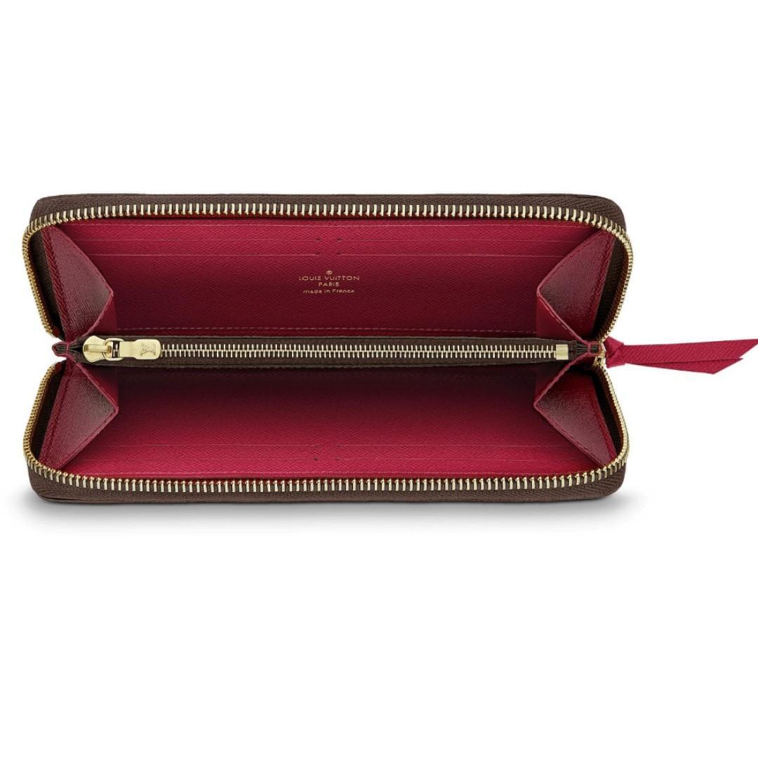 online store 79971 6bf00 Louis Vuitton / LV Clemence Wallet in Monogram Fuschia ...