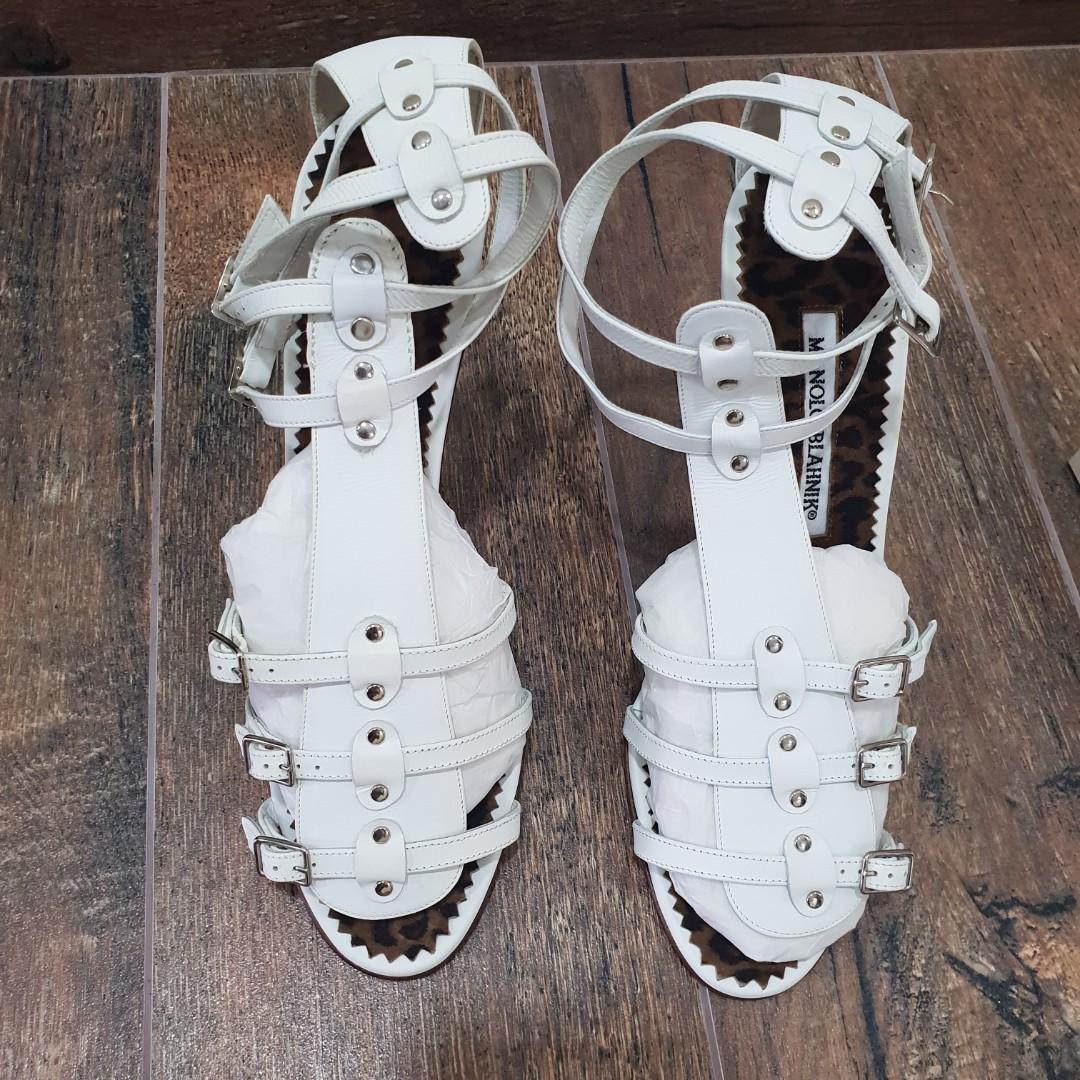 Manolo Blahnik Heels in White
