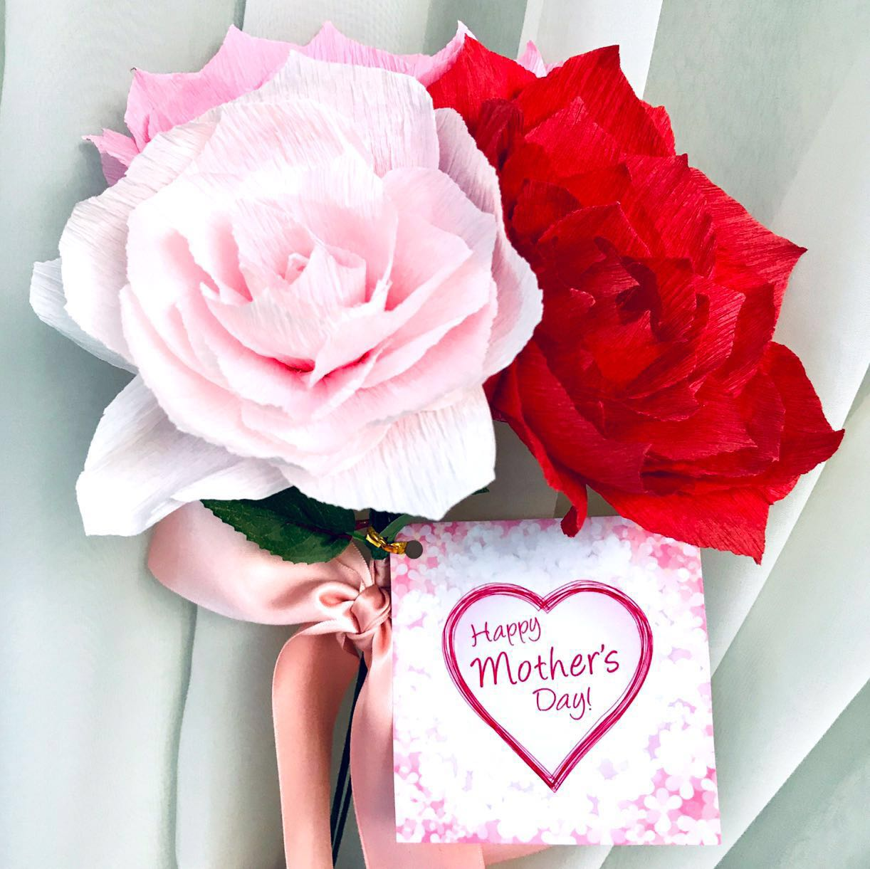 Mother S Day Crepe Paper Flower Bouquet