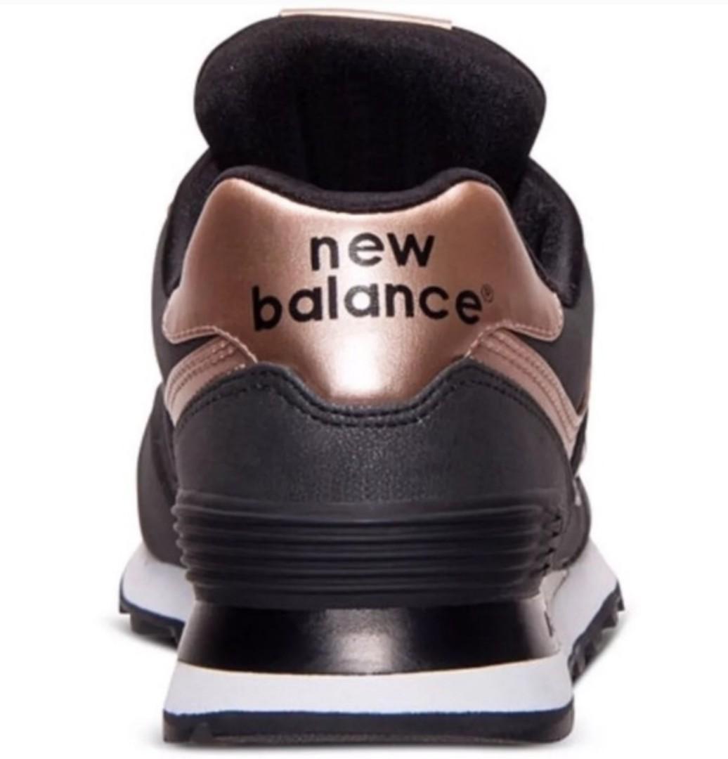 New Balance 574 Precious Metals black/rose gold 6.5