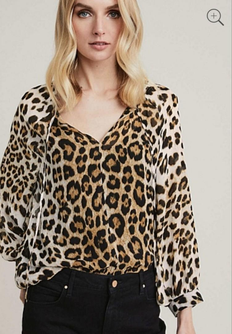 New! Witchery leopard print blouse RRP$129.95