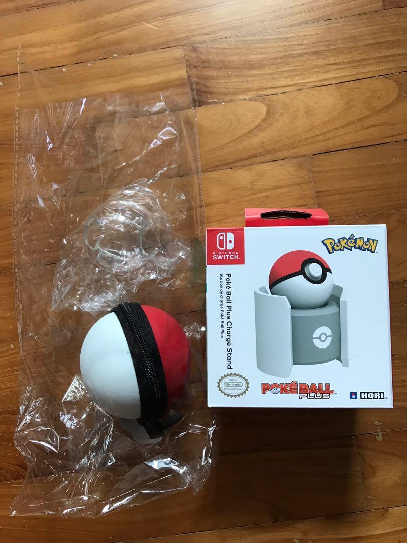 Nintendo Switch Pokemon Pokeball Plus Charger Stand Hori + Pokeball Protector + Pokeball Case