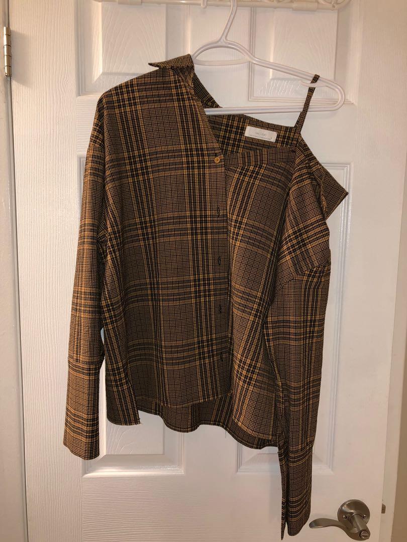 Oak and Fort Asymmetrical Shirt