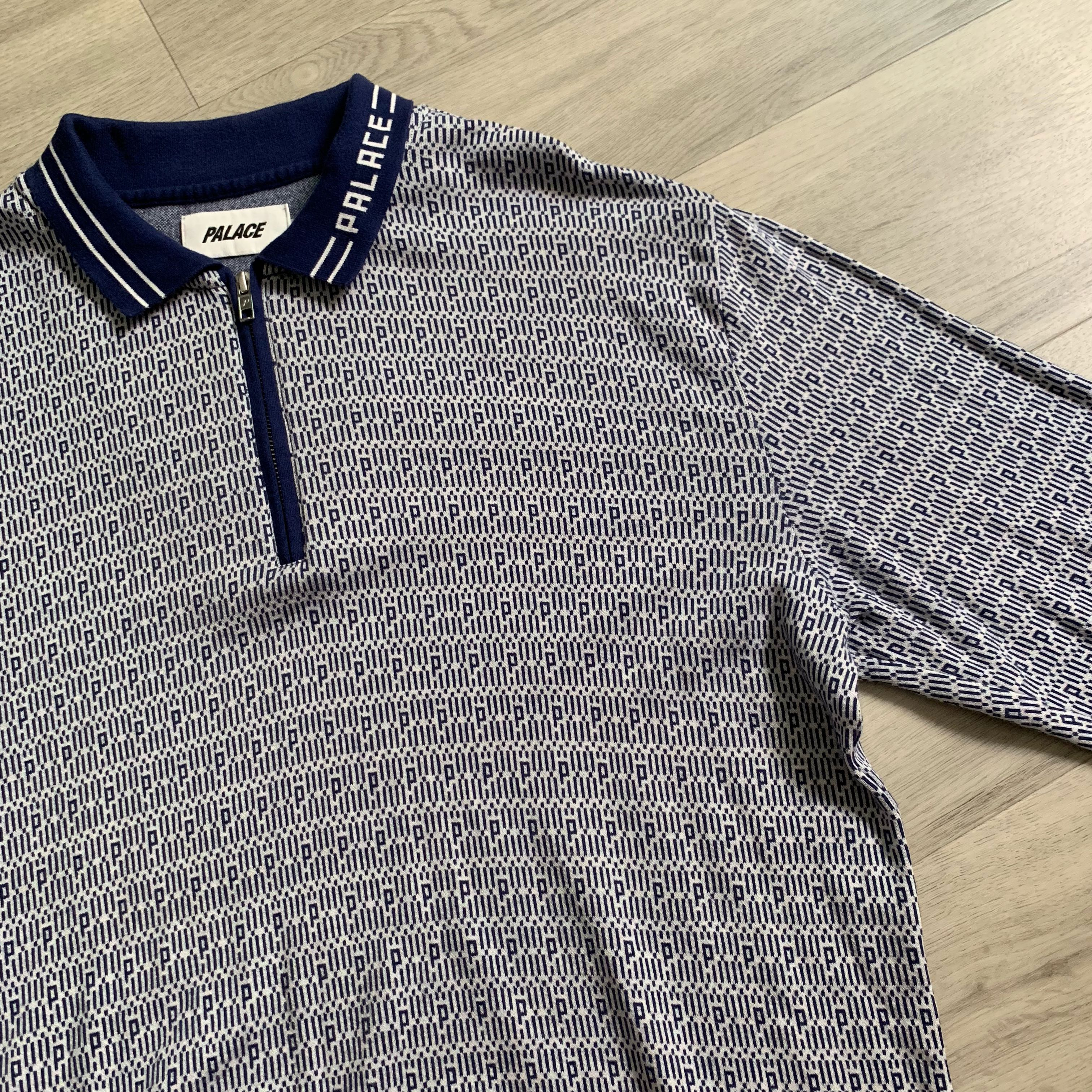 f73b3bff Palace marco p knit zip up polo, Men's Fashion, Clothes, Tops on Carousell