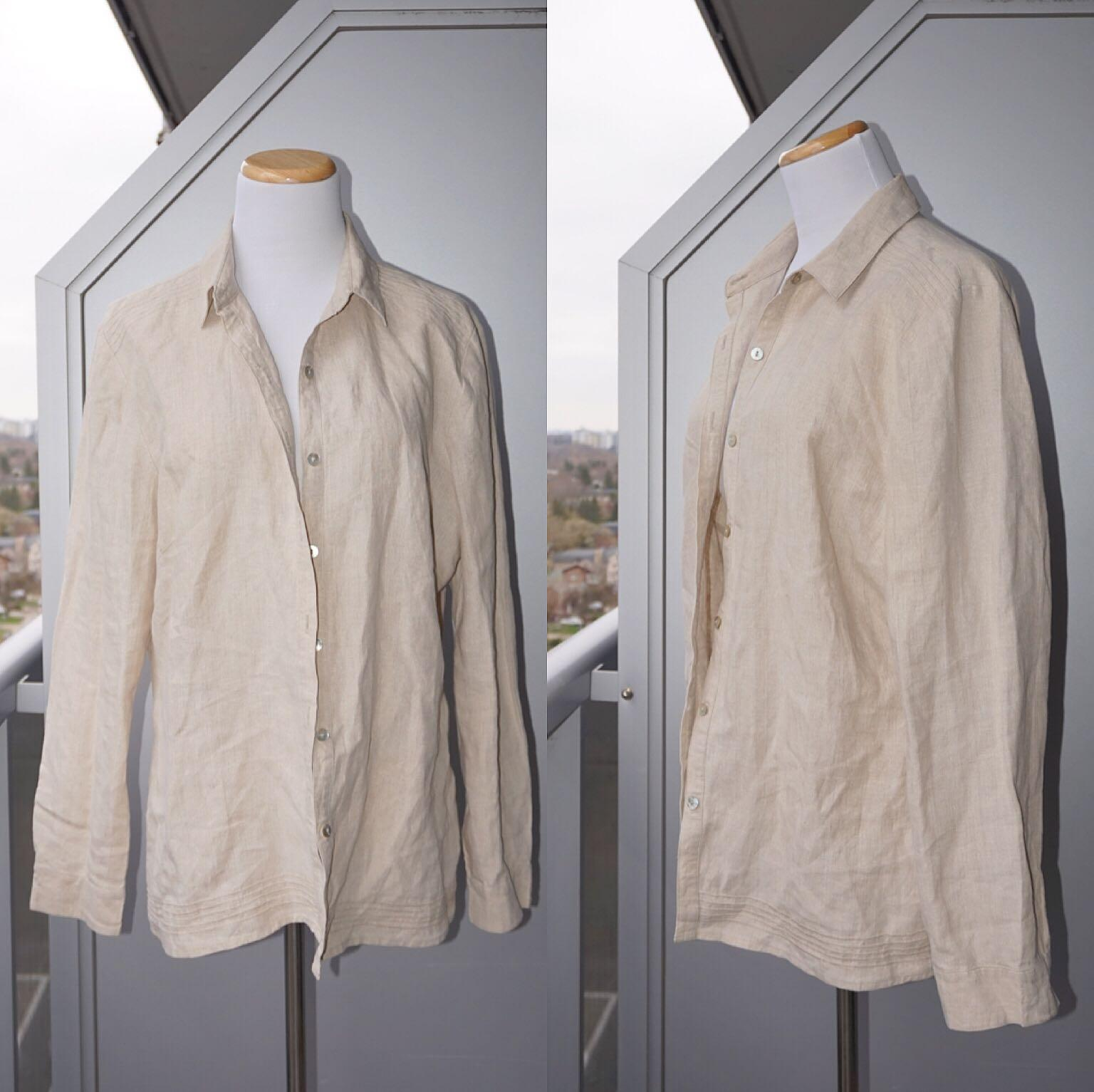 *Perfect Condition* ECOLOGIE 100% Irish linen shirt Women Size L