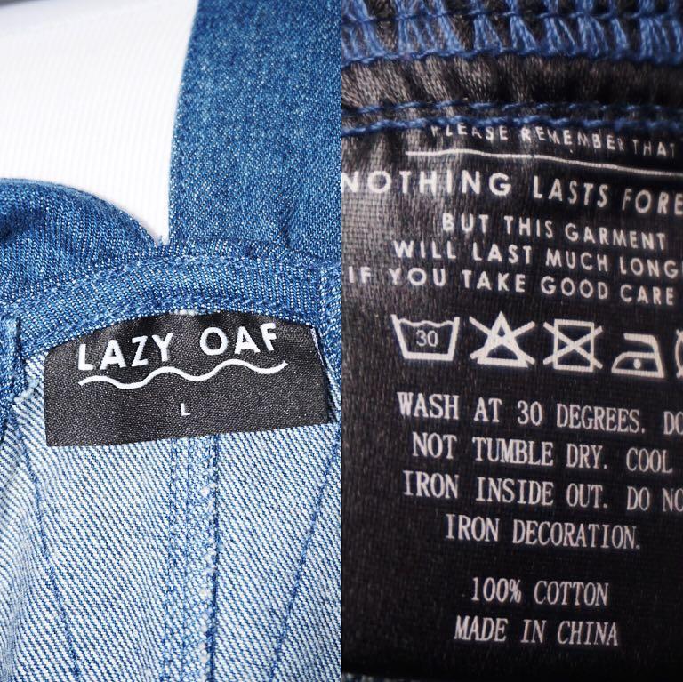 *Perfect Condition* Lazy Oaf denim dress Women Size L