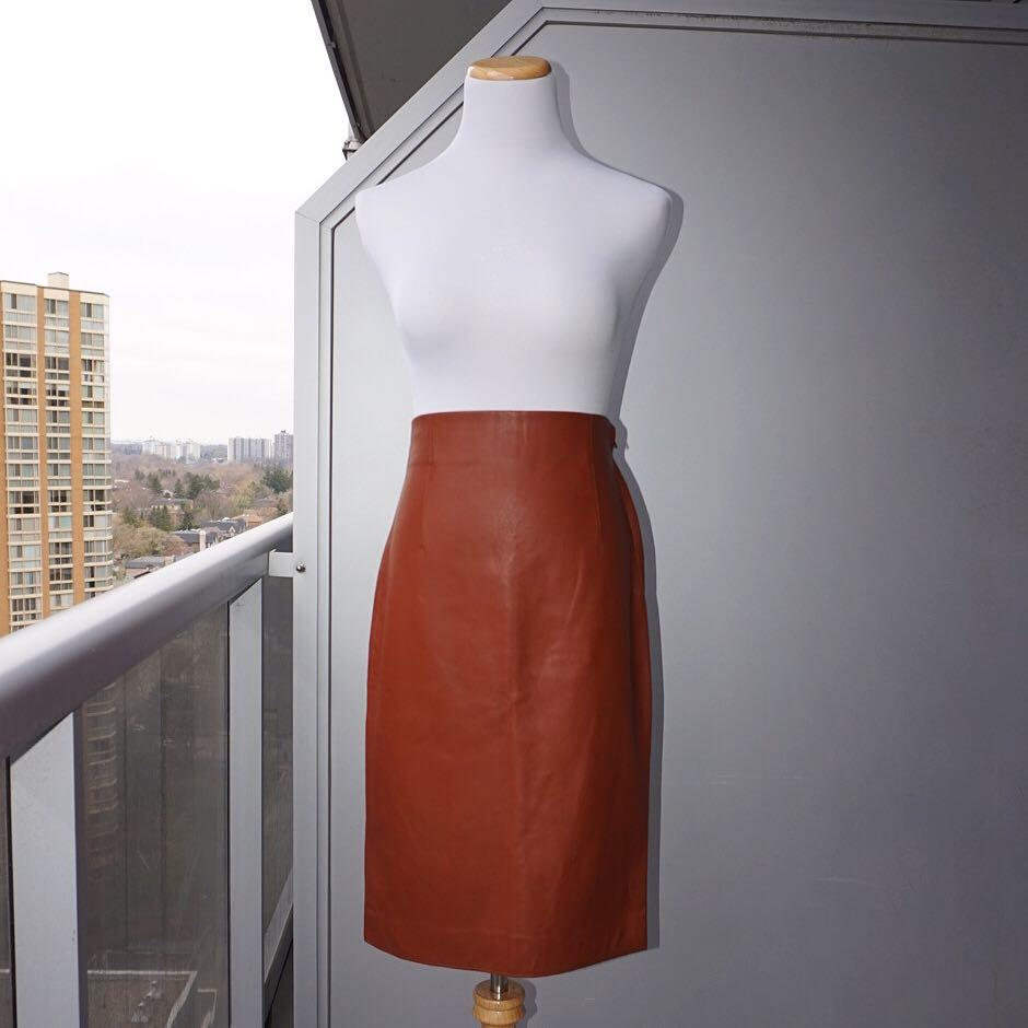 *Perfect Condition* Zara Faux Leather Pencil Skirt Women Size S
