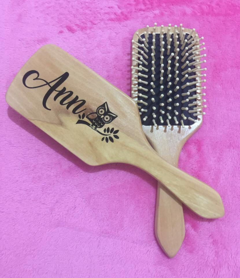 Personalized Wooden Hairbrush Health Beauty Hair Care On Carousell