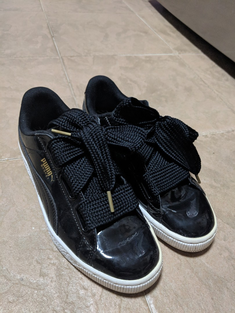 online store 798b7 d30f5 Puma Sneakers (Basket Heart Patent Black)