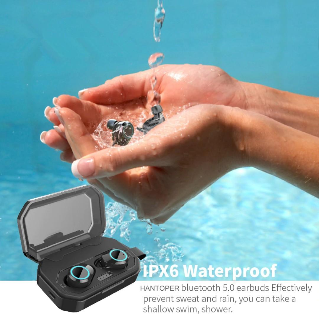New 3000mA IPX6 Waterproof TWS Wireless Earbuds Stereo Bluetooth 5.0 Headphone Volume Addition and Subtraction Earphone