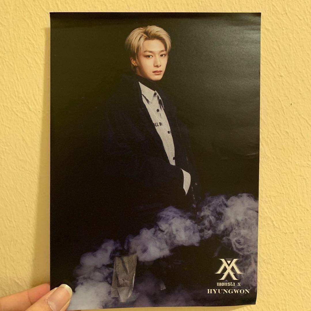 RARE Monsta X Hyungwon Tower Records Japan Postcard
