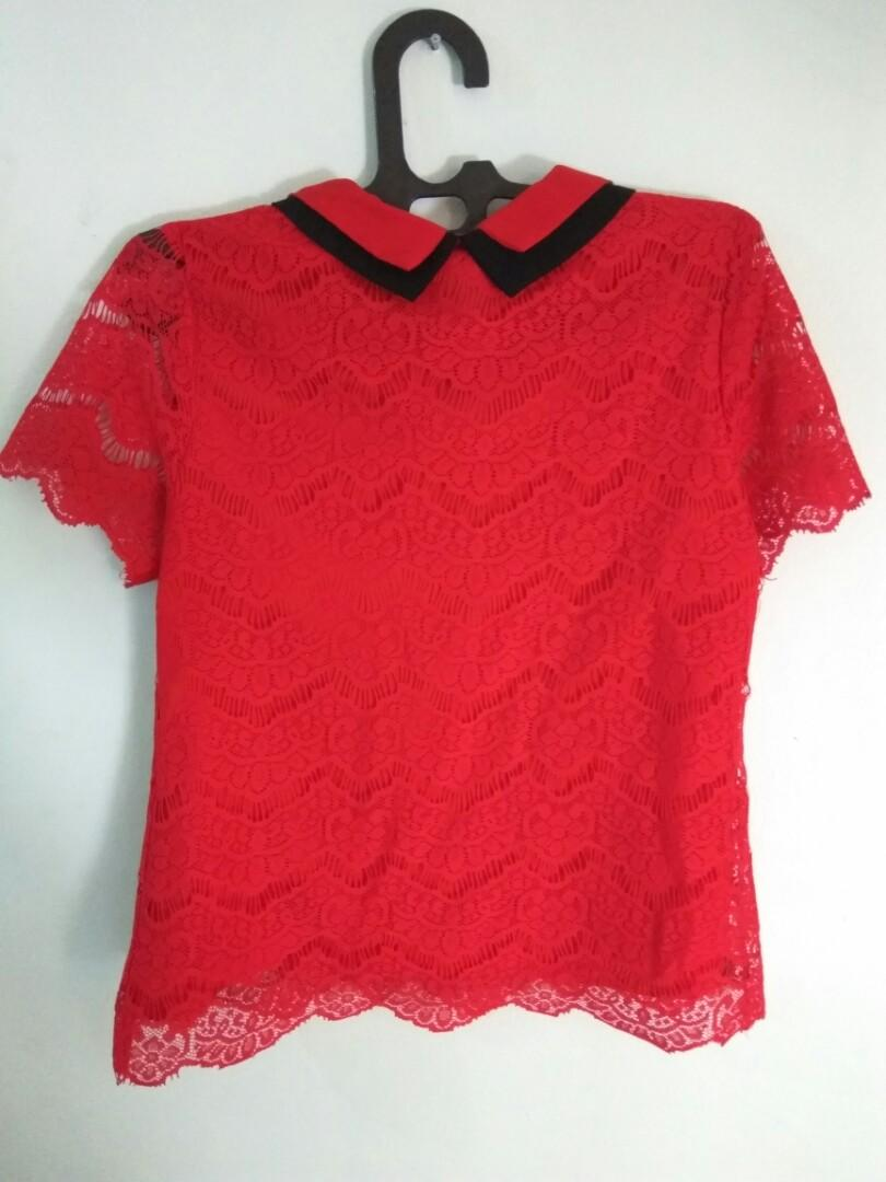 Red Lace Shirt