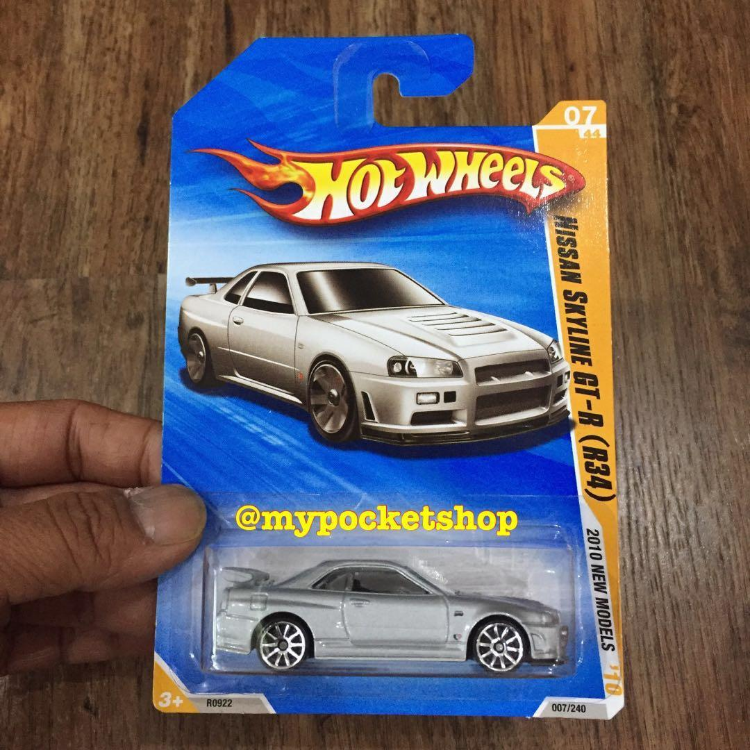 Reserved Hot Wheels Nissan Skyline Gt R R34 New Models Metalflake Grey Toys Games Others On Carousell