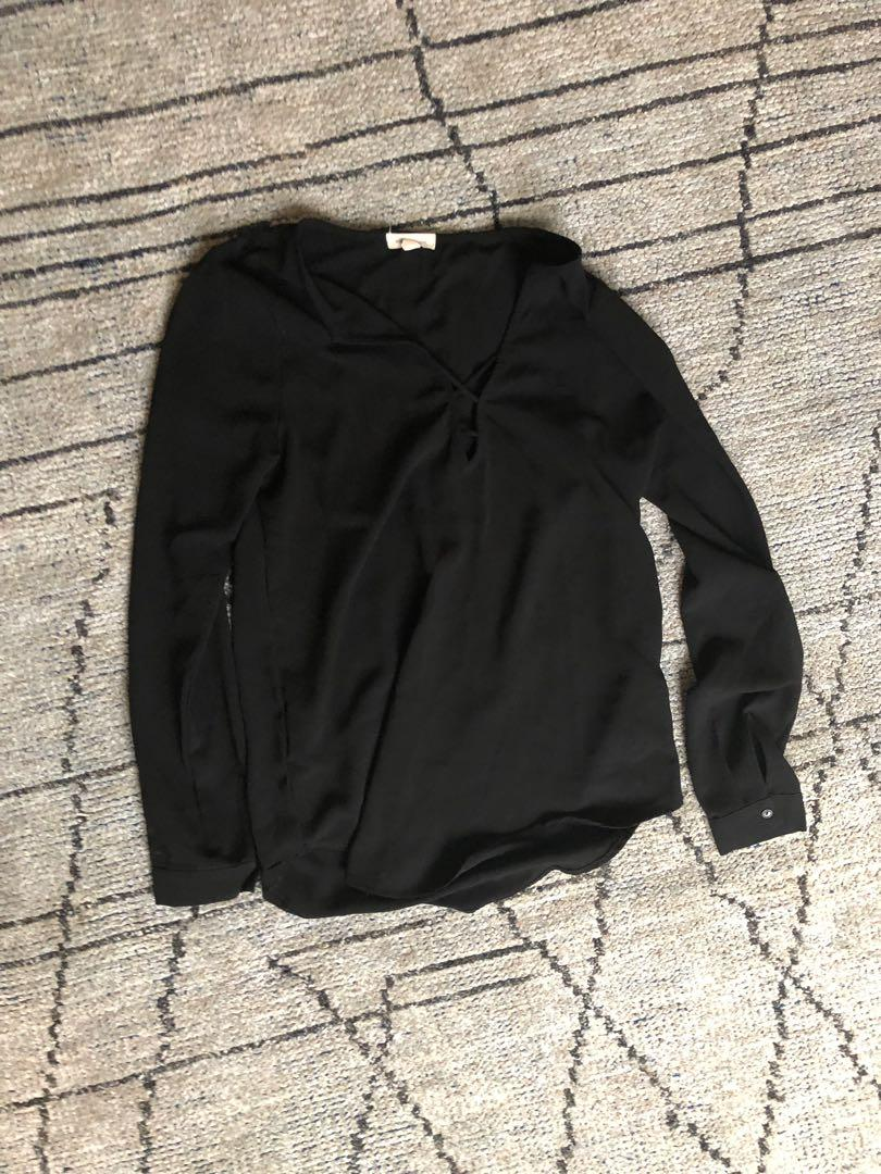 Silence and noise satin long sleeve - urban outfitters size S