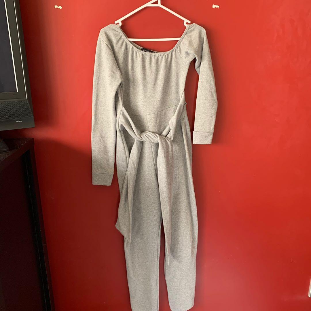 Size 12 Grey sweat jumpsuit