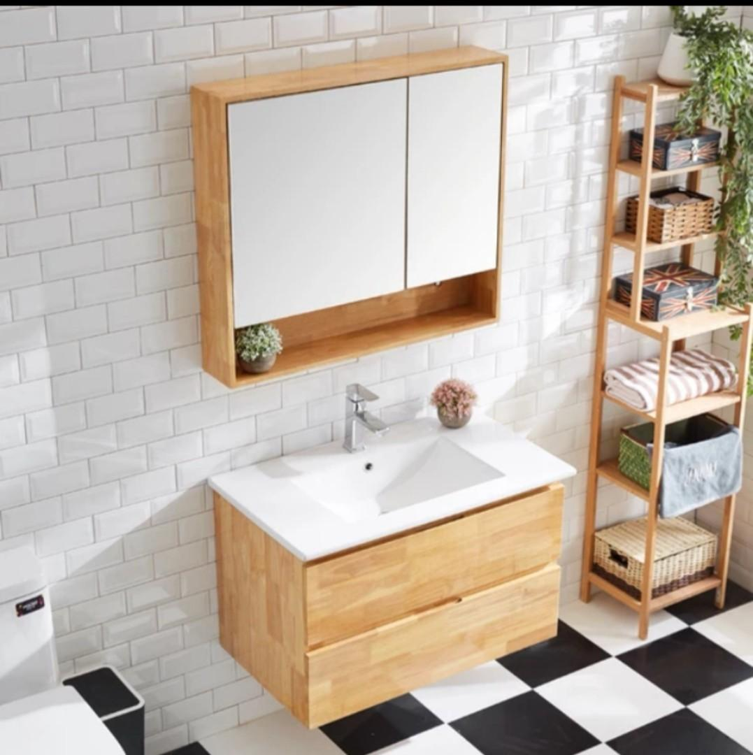 Solid Plywood Bathroom Vanity Set Furniture Shelves Drawers On Carousell