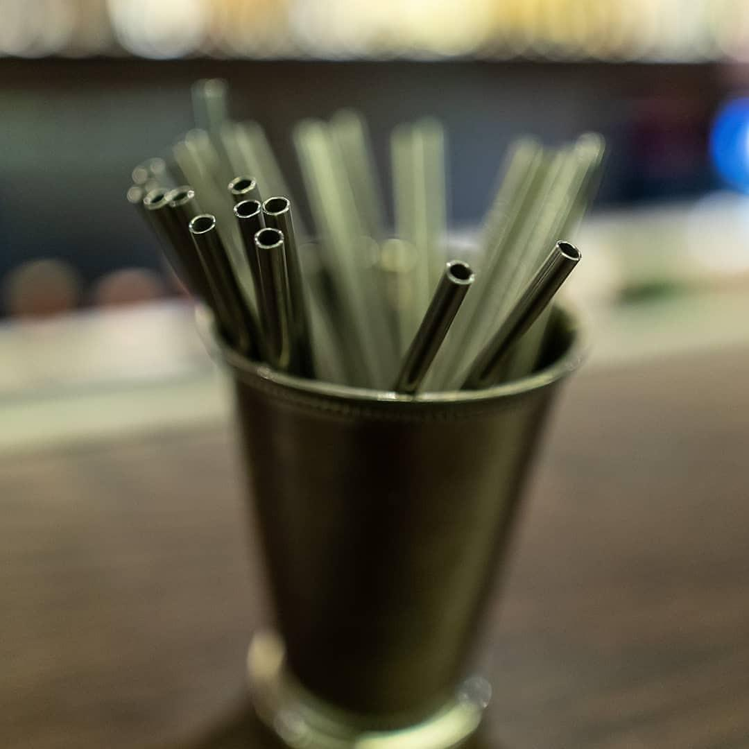 Stainless Straw Silver Set