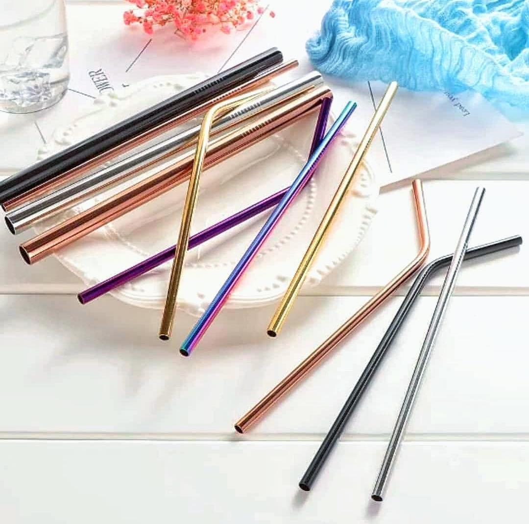 Stainless Straw Warna Set