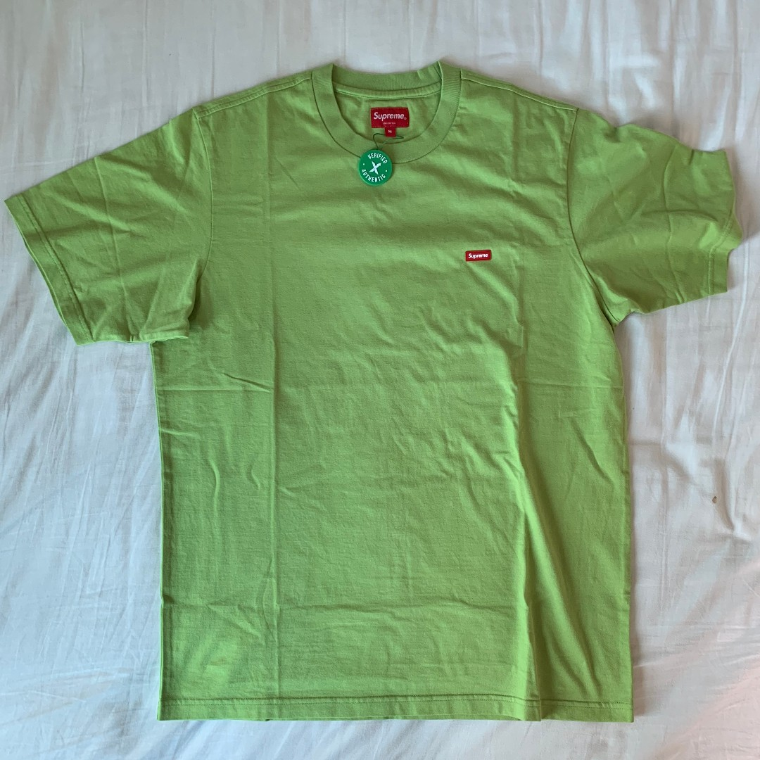 0f12b50f8dab Supreme Small Box Tee (SS19) Lime, Men's Fashion, Clothes, Tops on ...