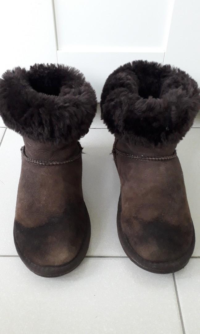 UGG Sheepskin Brown Boots UK Size5