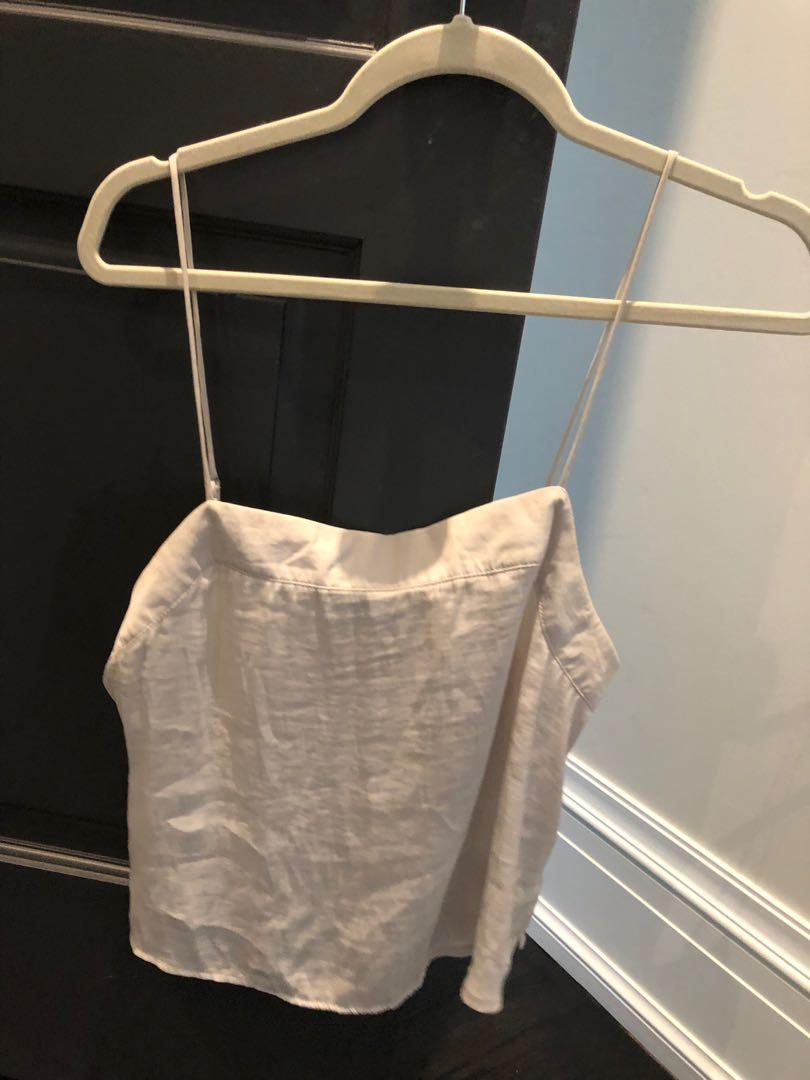Urban outfitters satin silver tank camisole - size M