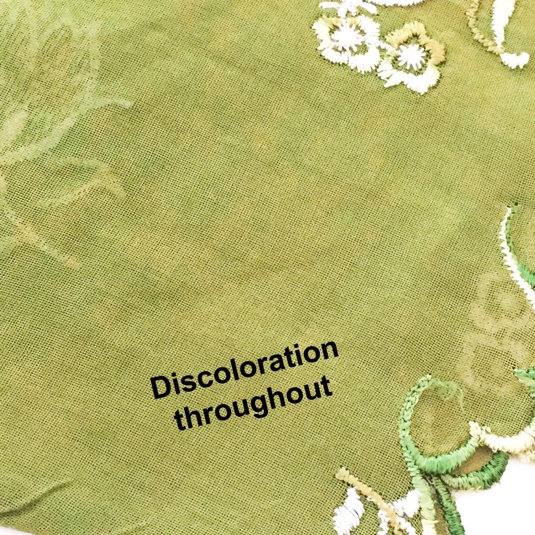 #2 Vintage Indonesian Malay Peranakan Green White Kebaya Baju Top (Brooch NOT included)