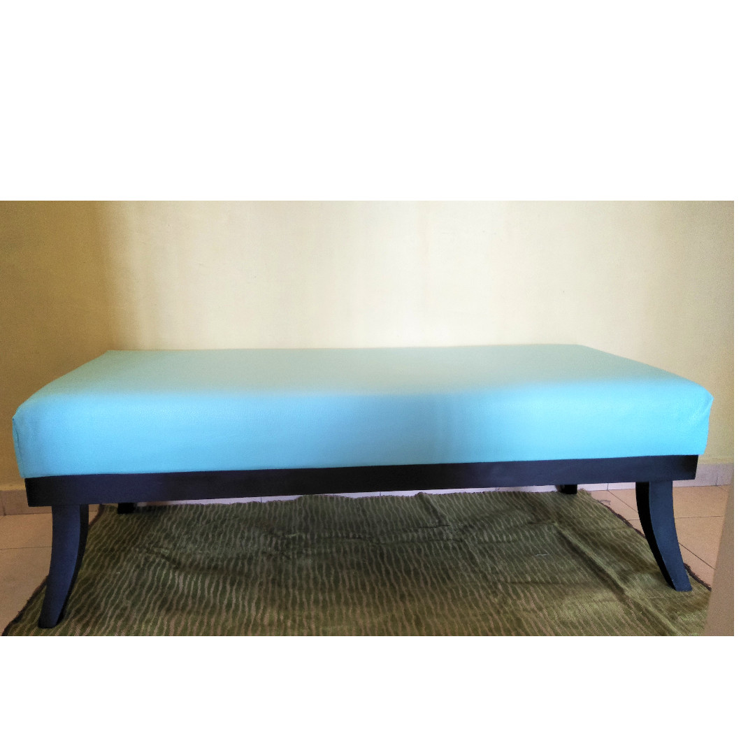 Superb Wooden Bench With Thick Cushion Pdpeps Interior Chair Design Pdpepsorg