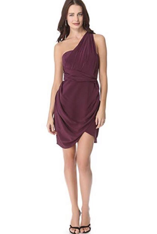 ZIMMERMANN SILK ONE SHOULDER DRAPE COCKTAIL DRESS NEW WITH TAGS