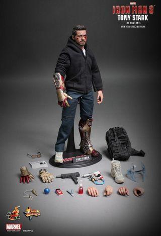 Hottoys MMS-209 1/6 Scale Ironman 3 Tony Stark The Mechanic (BIB)