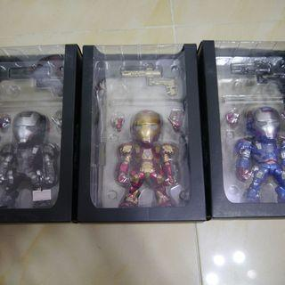 Tideway IRON MAN War machine LED Sound Control Toy Figure 3件已開燈可著
