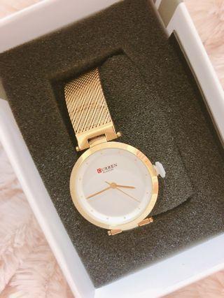 🚚 ✨ 全新 CURREN 金錶腕錶手錶