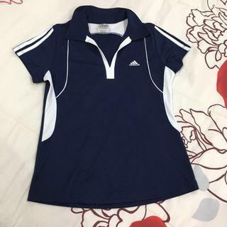 NEW Adidas Woman Sport Shirt 3-Stripes Club Polo