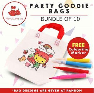BIRTHDAY DIY Colouring party bag GOODIE BAG
