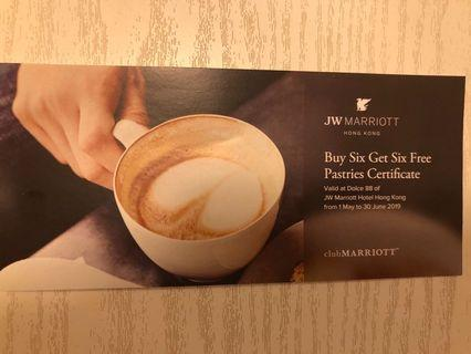 JW Marriott pastries certificate