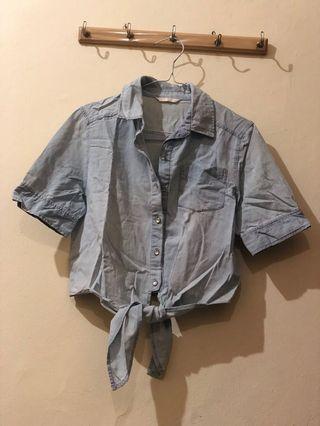 Kemeja jeans (crop top)