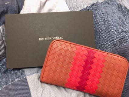 🉑️議 Bottega Veneta bv撞色長夾錢包