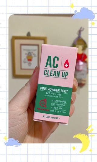 ETUDE HOUSE AC CLEAN UP PINK POWDER SPOT (NEW ORIGINAL FROM SEOUL)