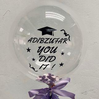"""7"""" Graduation Customised Balloon"""