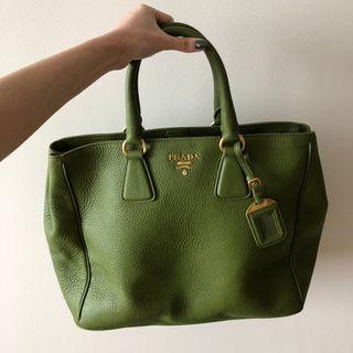 Authentic Prada Vitello Daino Leather Tote Bag BN2423