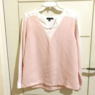 Lookboutique store Pink x White Top