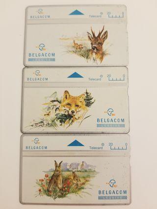 Belgium phonecard animals edition