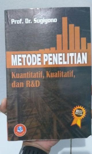 Metode Penelitian Kuantitatif, Kualitatif, dan R&D (Buku Bekas)