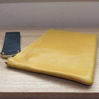 Anya Hindmarch Mustard Yellow Clutch (Mother's Day Gift)