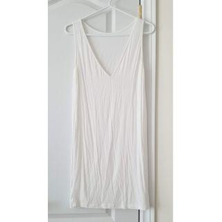 Semi-Sheer V-Neck Slip Dress
