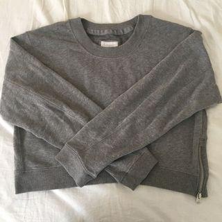 Abercrombie & Fitch Grey Cropped Sweater