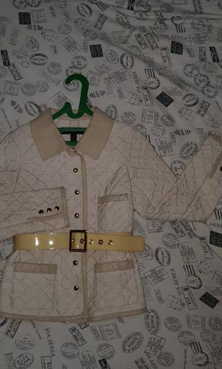 REPRICED CARDIGAN LV Louis Vuitton Monogram Leather mix jacket with Belt (LIMITED EDITION)